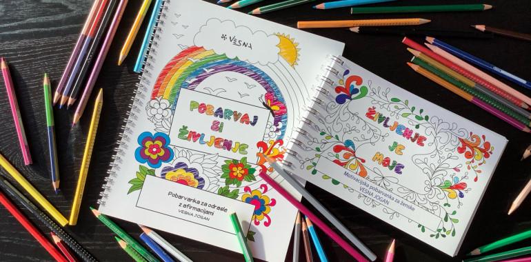 Pobarvaj si življenje v svoje barve z motivacijsko pobarvanko