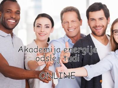 Akademija energije letnik 2018/19 odslej tudi ONLINE
