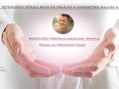 Prijava na brezplačen preizkus Energijske terapije