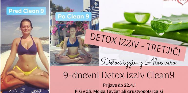 9-dnevni Detox izziv z Aloe vero Clean 9 - TRETJIČ!