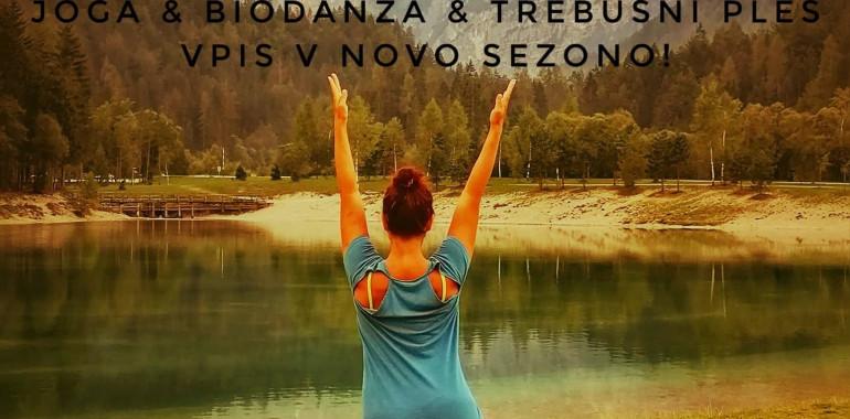 Tečaji joge, biodanze in trebušnega plesa - NOVI vpisi!
