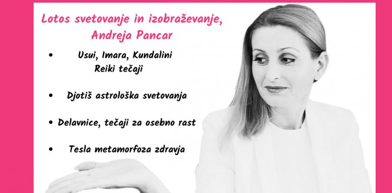 Lotos svetovanje in izobraževanje, Andreja Pancar s.p., djotiš, Reiki tečaji, karmična diagnostika