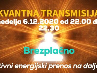 Kvantna transmisija- brezplačni nedeljski energijski prenos