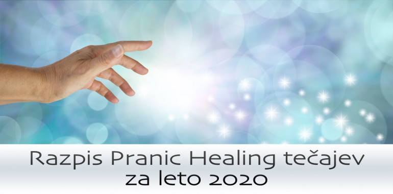 Razpis Pranic Healing tečajev 2020