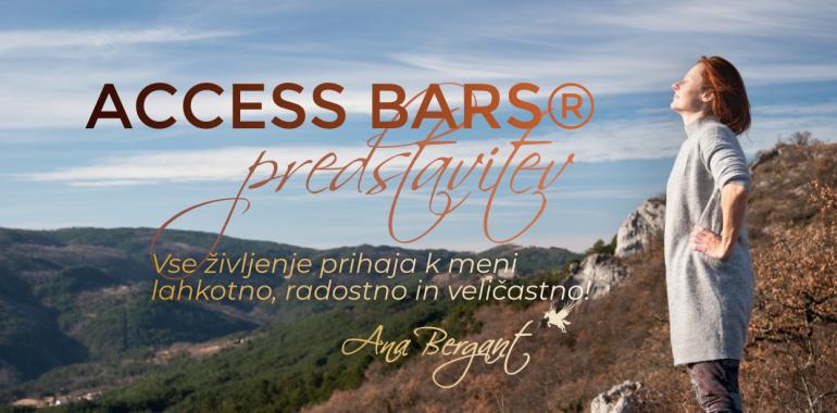 Access Bars® predstavitev v živo ali online