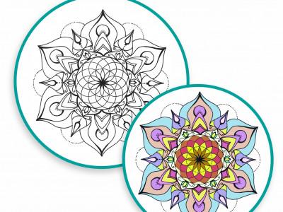 Pobarvanka MANDALA: odličen pripomoček za aktivno meditacijo in spoznavanje sebe