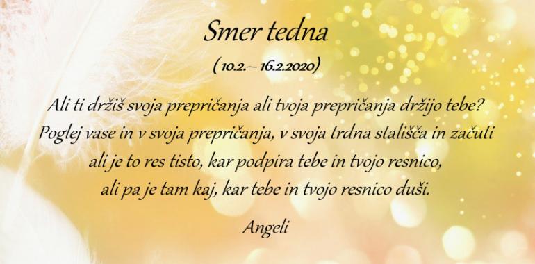 Angelska SMER TEDNA: 10.–16. 2. 2020