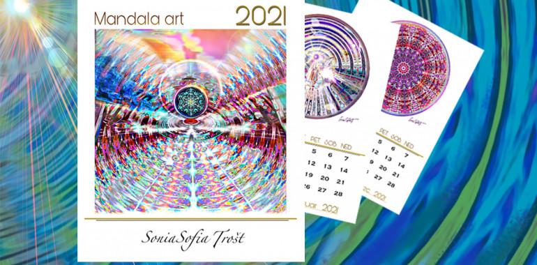 KOLEDAR 2021 Art MANDALA slikarke Sonie Sofie Trošt
