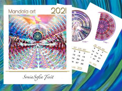 AKCIJA: KOLEDAR 2021 Art MANDALA slikarke Sonie Sofie Trošt