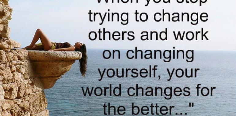 Spreminjate druge ali sebe?