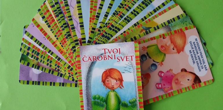 Afirmacijske kartice za otroke Tvoj čarobni svet