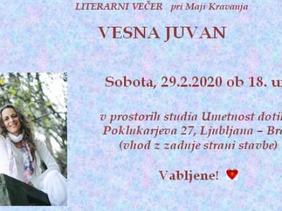 Literarni večer z Vesno Juvan