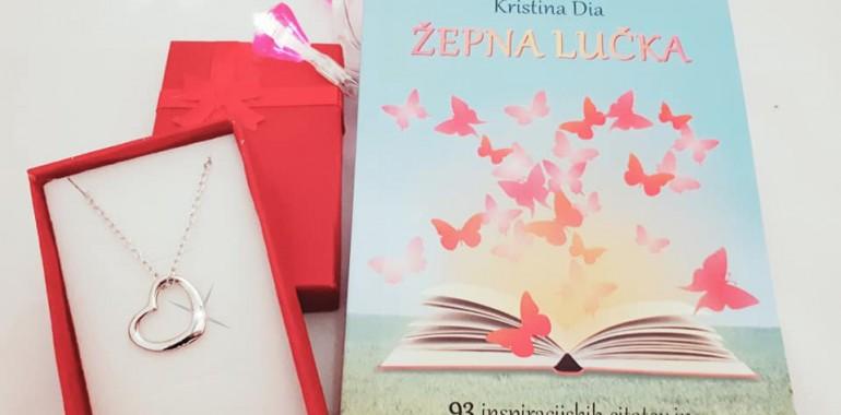 inspiracijska knjiga Žepna lučka + verižica Odprto srce 60% CENEJE
