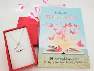 AKCIJA: inspiracijska knjiga Žepna lučka + verižica Odprto srce 60% CENEJE