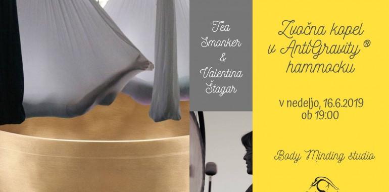 Zvočna gong kopel v Antigravity@hammocku - 3 čakra novi izziv